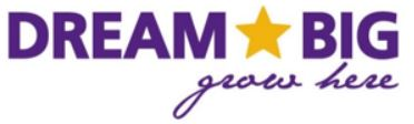 Dream Big Grow Here logo